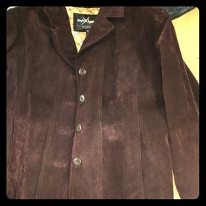 Wilson's women leather burgundy jacket size XL